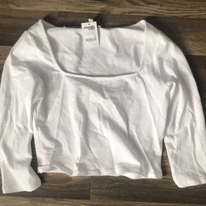White off the shoulder top, never worn.